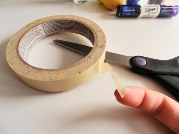primer paso: triangulos delgados con maskin tape