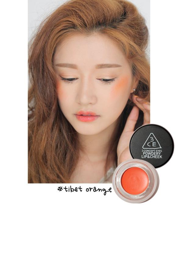 3ce powdery blusher orange
